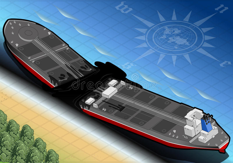 Download Isometric  Ship Tanker Destroyed In Two Parts In Rear View Stock Vector - Image: 31861806
