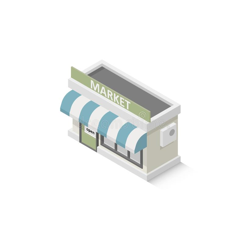 Isometric shop market stock illustration