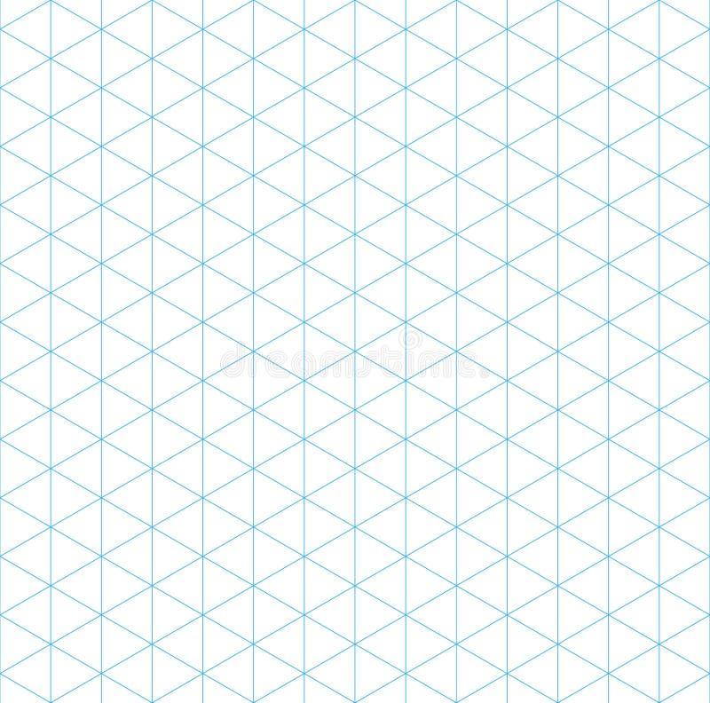Isometric siatki bezszwowy wzór ilustracji