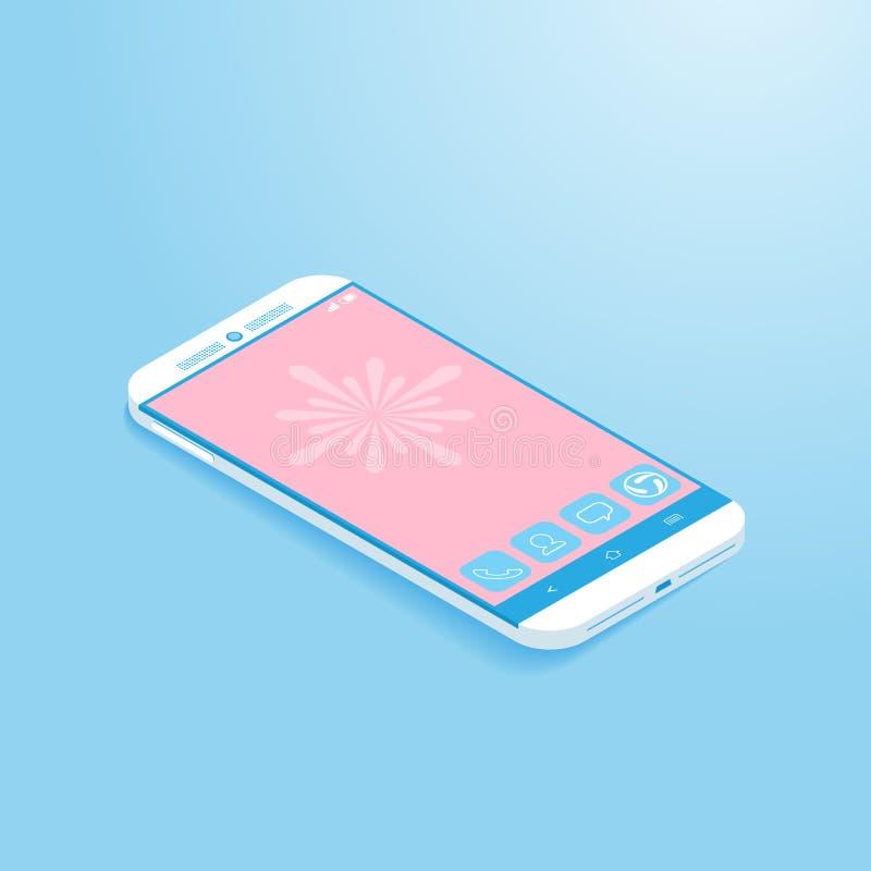Isometric Smartphone ilustracja wektor