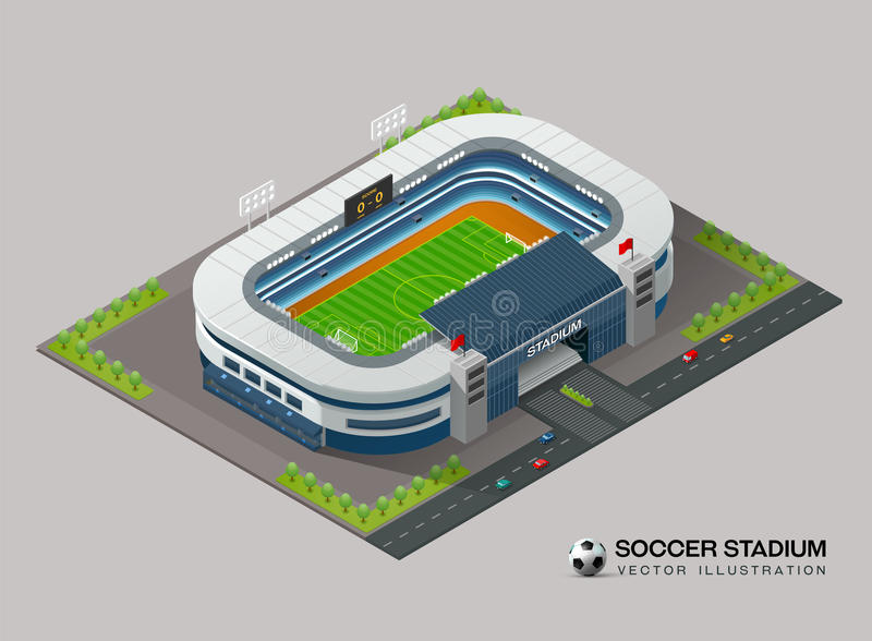 Isometric soccer stadium. Vector illustration vector illustration