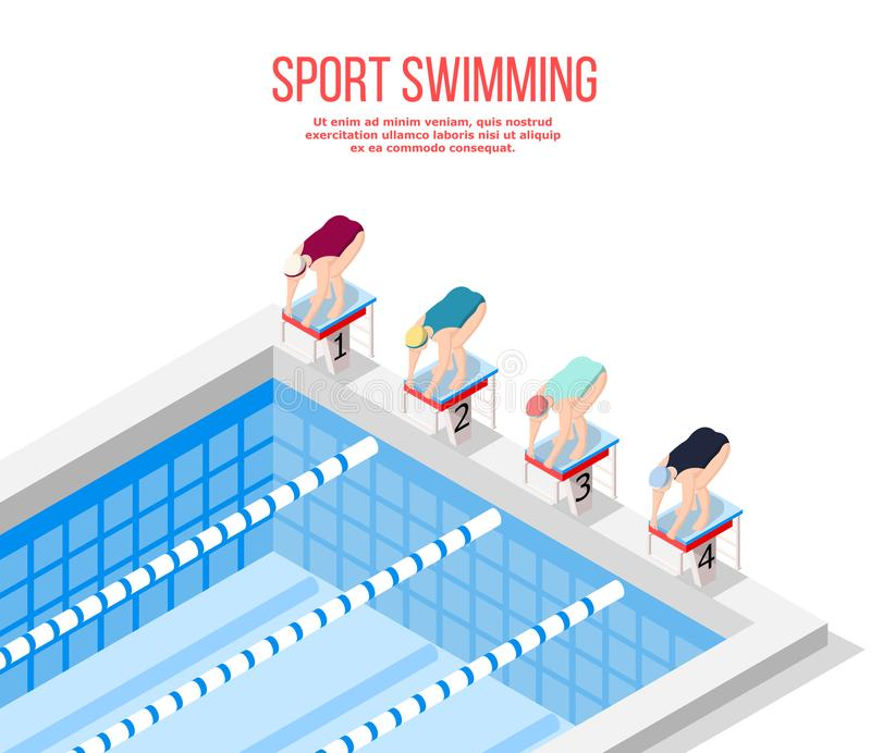 Download Olympic Pool Swimming Background Stock Vector