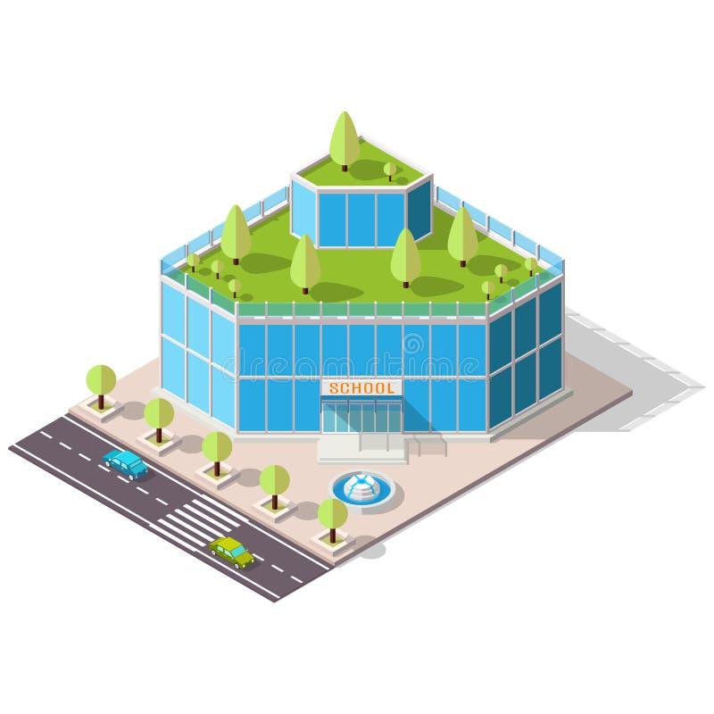 Isometric szkolny Zaawansowany technicznie ilustracji