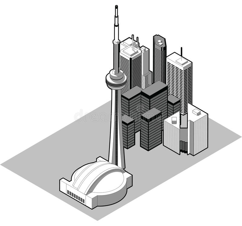 Isometric Toronto ilustracja wektor