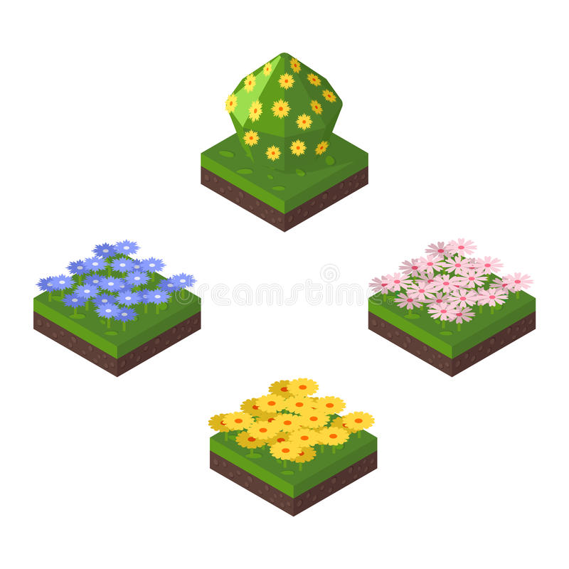 Isometric tree vector illustration. vector illustration