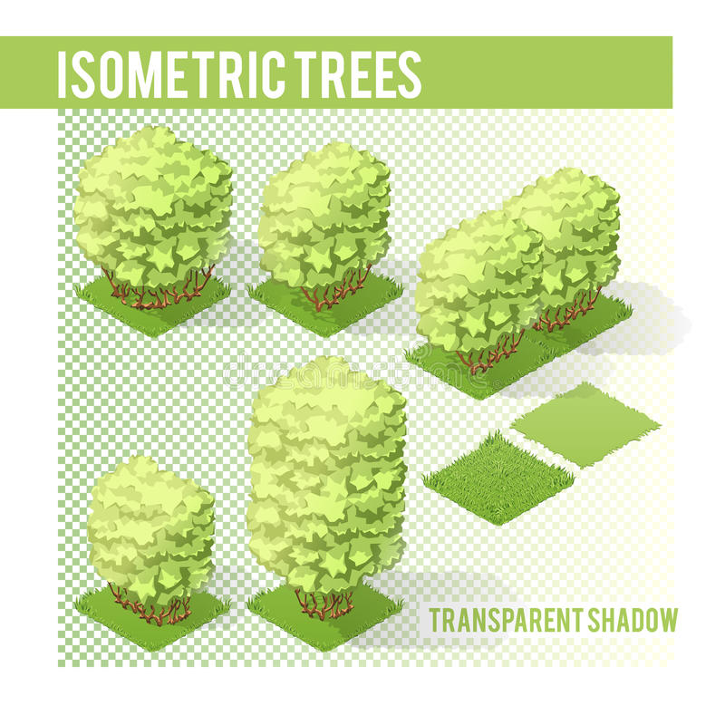 Isometric Trees 003 vector illustration