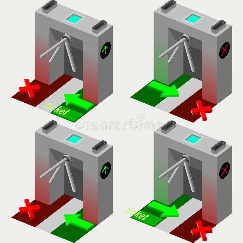 Isometric Tripod Gate royalty free illustration