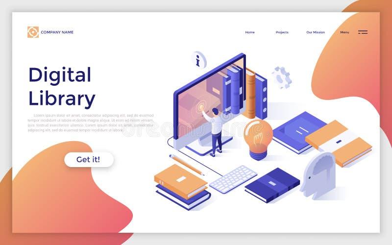 Isometric vector illustration. royalty free illustration