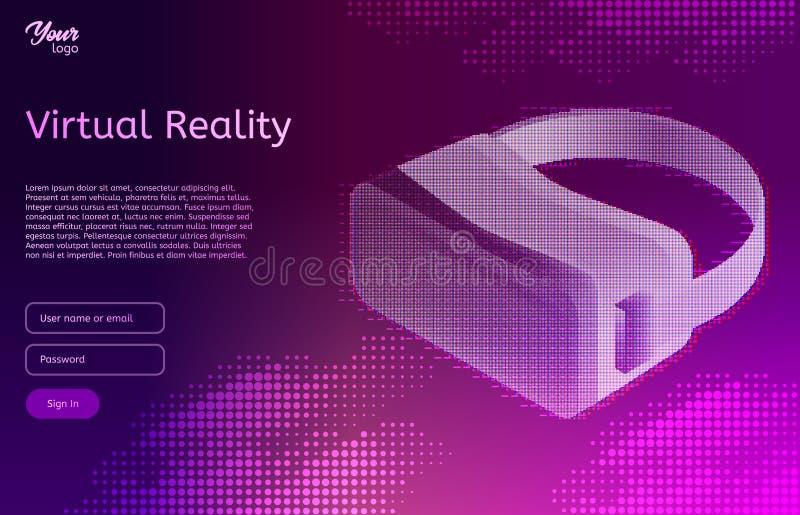 Isometric virtual reality concept. VR headset. Vector illustration. vector illustration