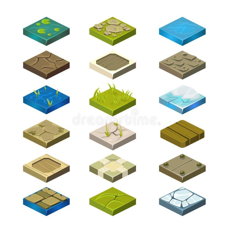 Isometric Wektorowe platformy Ustawiać ilustracji