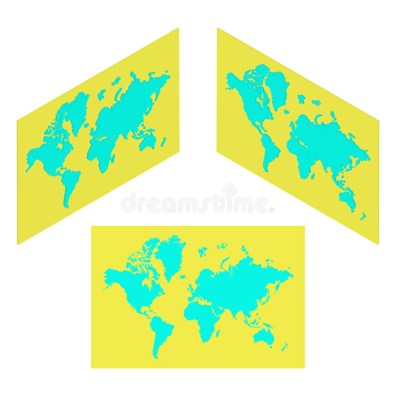 Isometric world map illustration stock vector illustration of download isometric world map illustration stock vector illustration of america shape 57868026 gumiabroncs Gallery