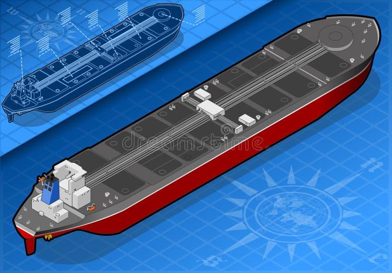 Isometric zbiornikowiec do ropy w tylni widoku royalty ilustracja