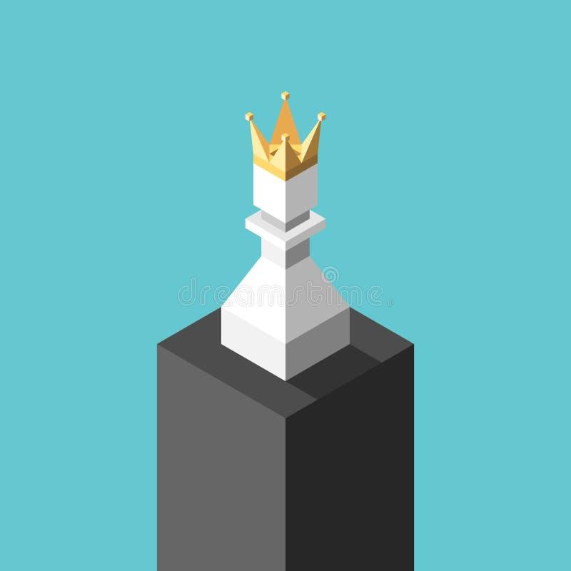 Isometrisch bekroond pand, voetstuk royalty-vrije illustratie
