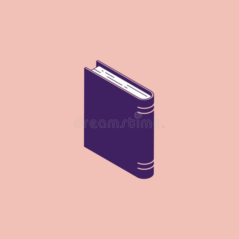 Isometrisch bevindend boek - woordenboek of encyclopedie met document pagina's en hardcover royalty-vrije illustratie