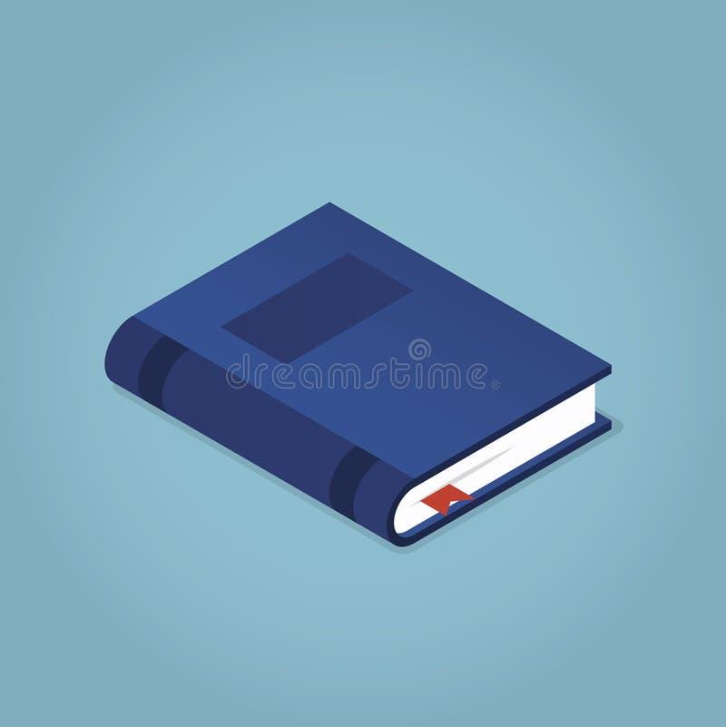 Isometrisch boek met een referentie stock illustratie