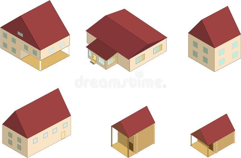 Isometrisch Huis vector illustratie