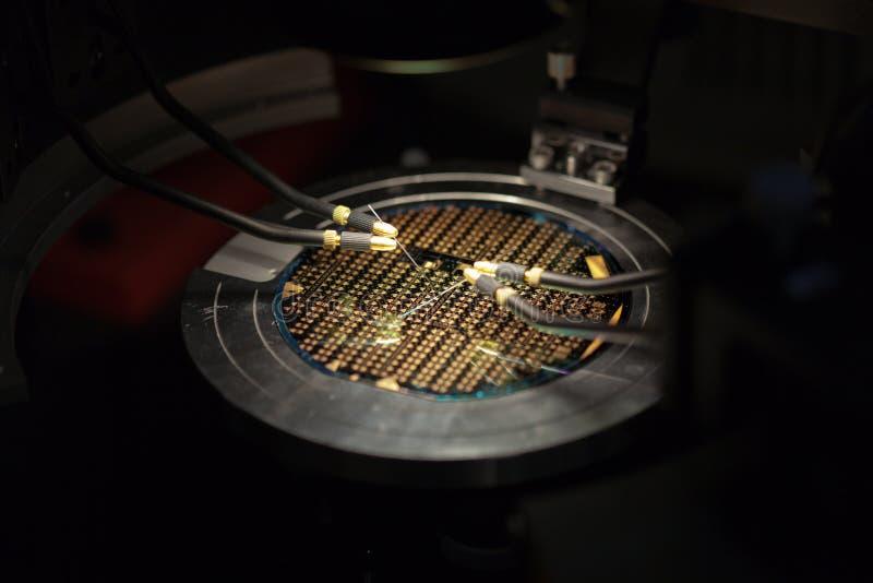 Isometrisch perspectief van een microchip   royalty-vrije stock foto