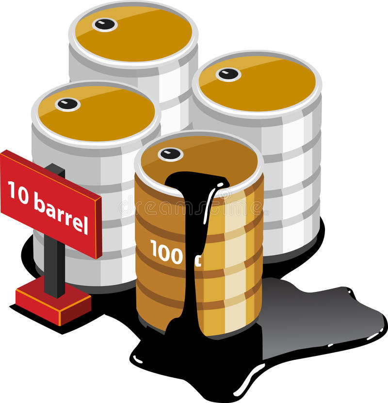 Isometrische Öltanks lizenzfreie abbildung