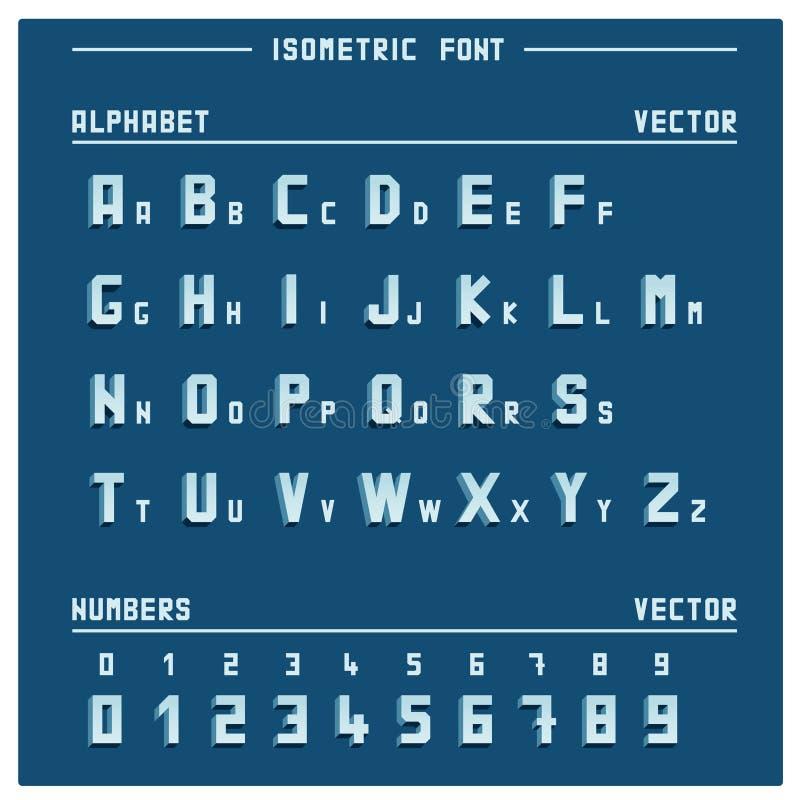 Isometrische Alfabet en Aantallen vector illustratie