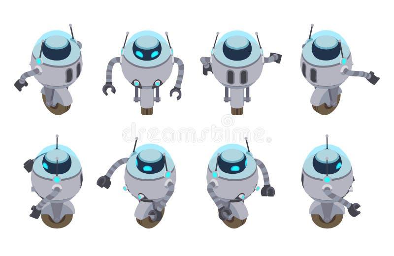 Isometrische futuristische robot royalty-vrije illustratie