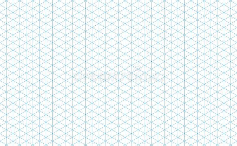 Isometrische Gitterlinien blau vektor abbildung