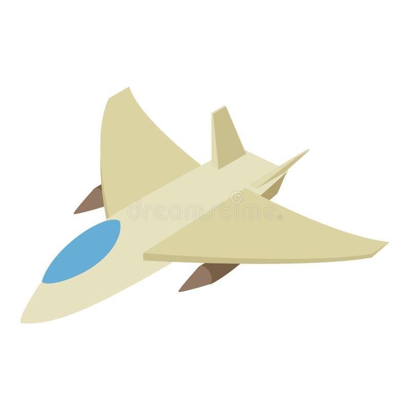 Isometrische Ikone 3d des Kampfflugzeugs lizenzfreie abbildung