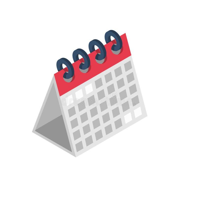 Isometrische Ikone des Kalenders stock abbildung