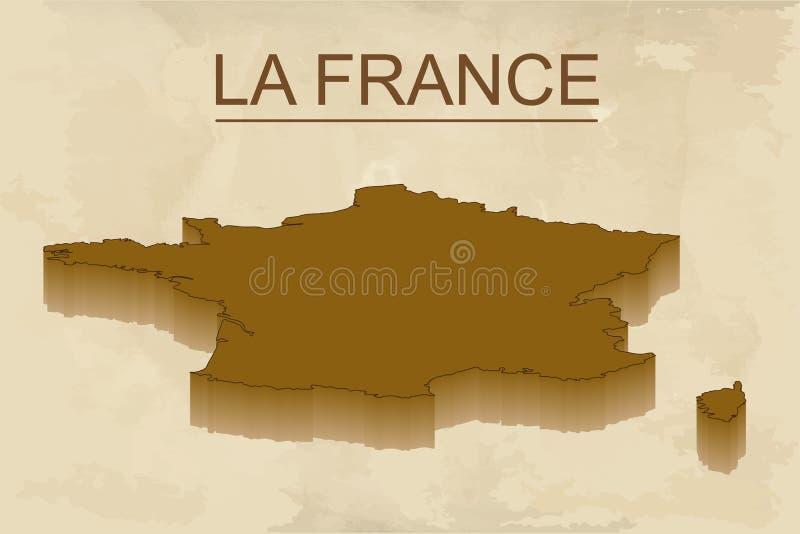 Isometrische kaart van Frankrijk gedetailleerde vectorillustratie Het geïsoleerde 3D isometrische concept van het land voor infog royalty-vrije illustratie