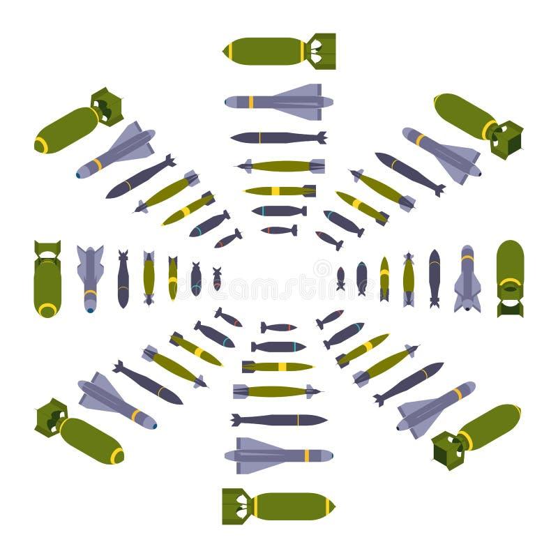 Isometrische luchtbommen stock illustratie