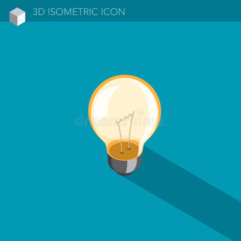 Download Isometrische Netzikone Der Glühlampe 3D Stock Abbildung - Illustration: 106386186