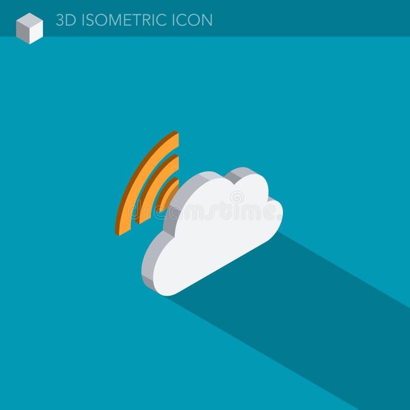 Download Isometrische Netzikone Der Wolke 3D Stock Abbildung - Illustration: 106386124