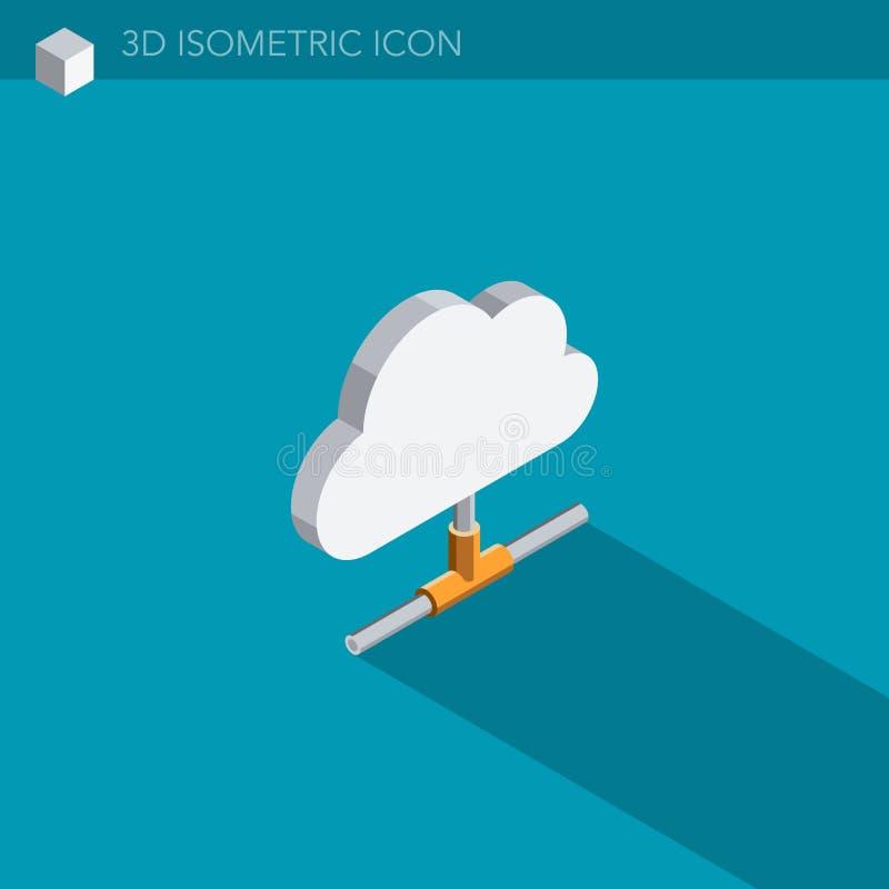 Download Isometrische Netzikone Der Wolke 3D Stock Abbildung - Illustration: 106386151
