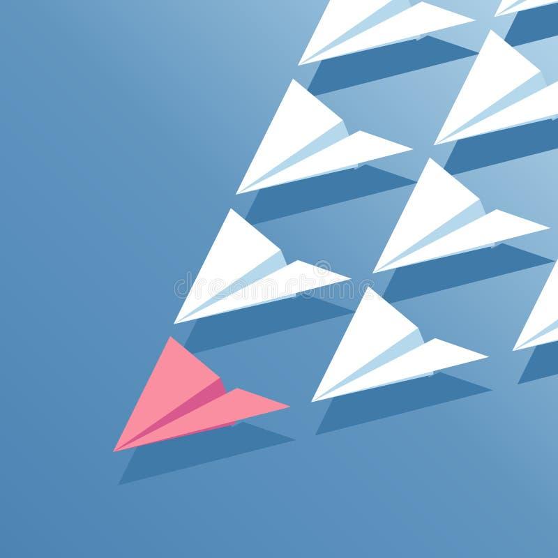 Isometrische Papierflächen stock abbildung