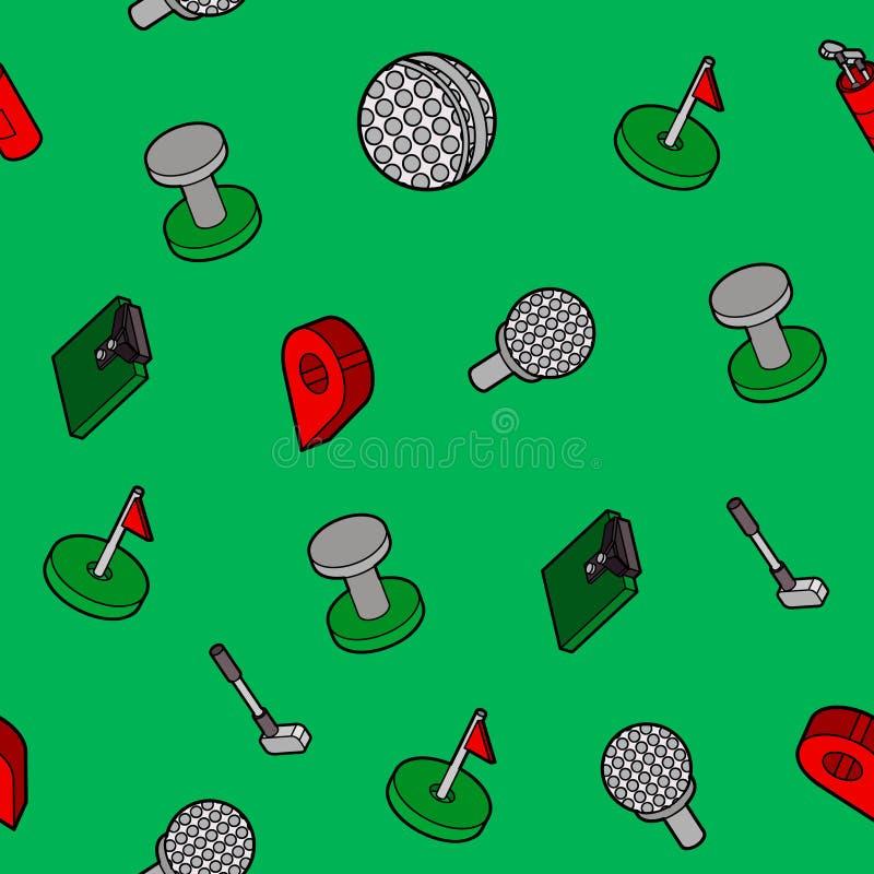 Isometrische patroon van het golf het vlakke overzicht vector illustratie