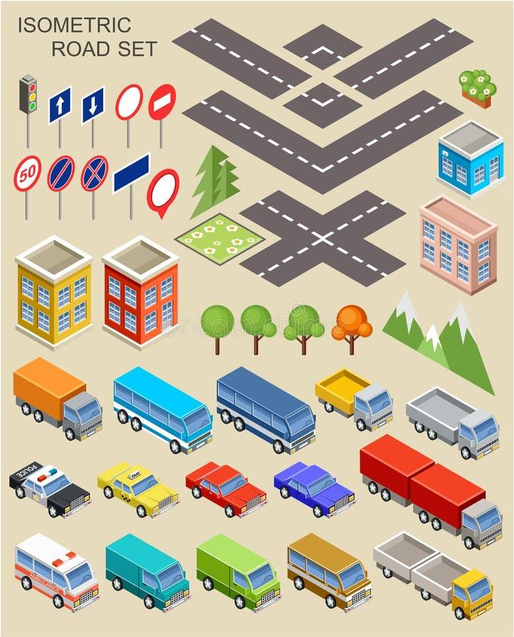 Isometrische Stadsreeks stock illustratie