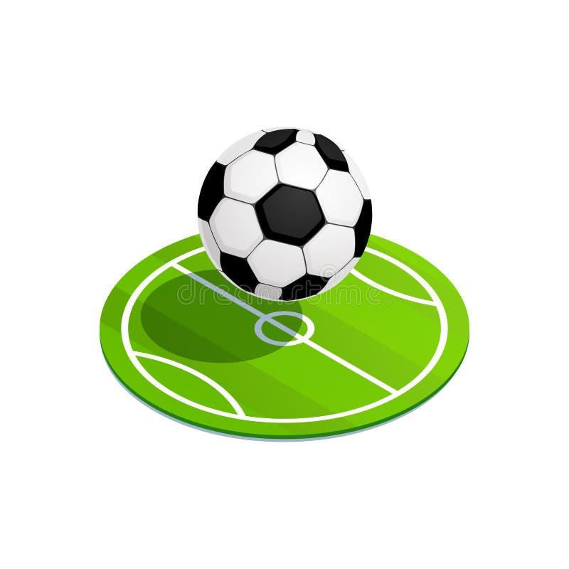 Isometrische Voetbalbal stock illustratie