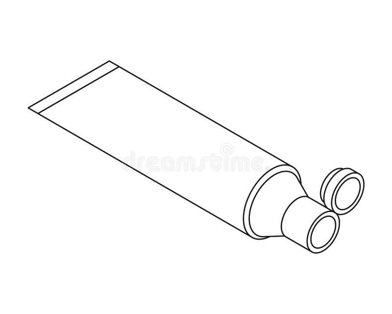 Isometrische witte het malplaatjespot van de roombuis omhoog De vectorstijl van het Illustratiebeeldverhaal royalty-vrije illustratie