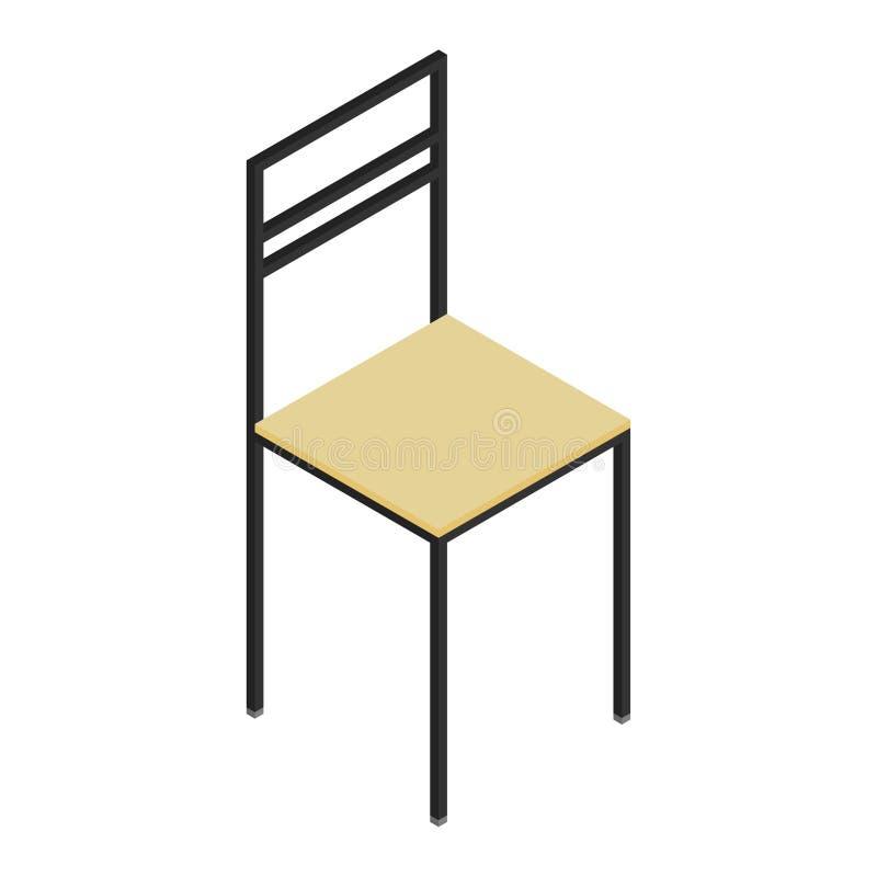 Isometrischer Holzstuhl lizenzfreie abbildung