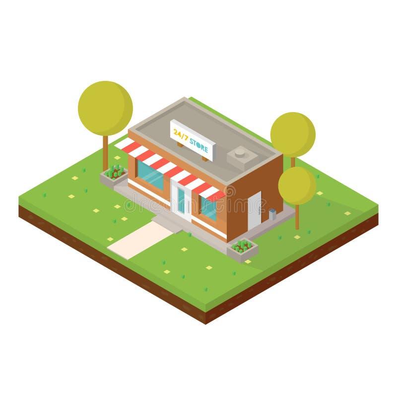 Isometrischer kleiner Shop stock abbildung