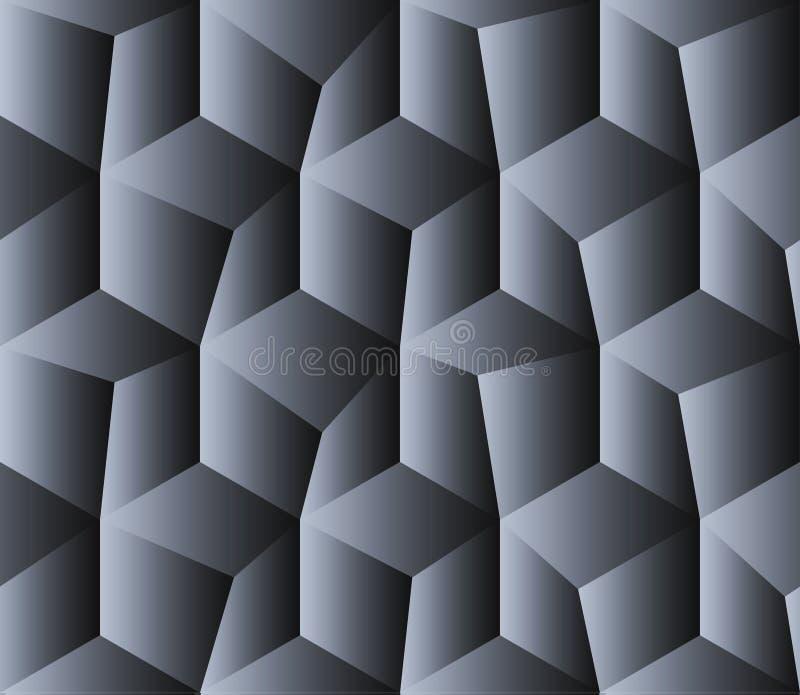 Isometrischer quadratischer nahtloser Hintergrund vektor abbildung