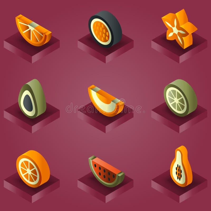 Isometrischer Satz der Fruchtfarbsteigung lizenzfreie abbildung