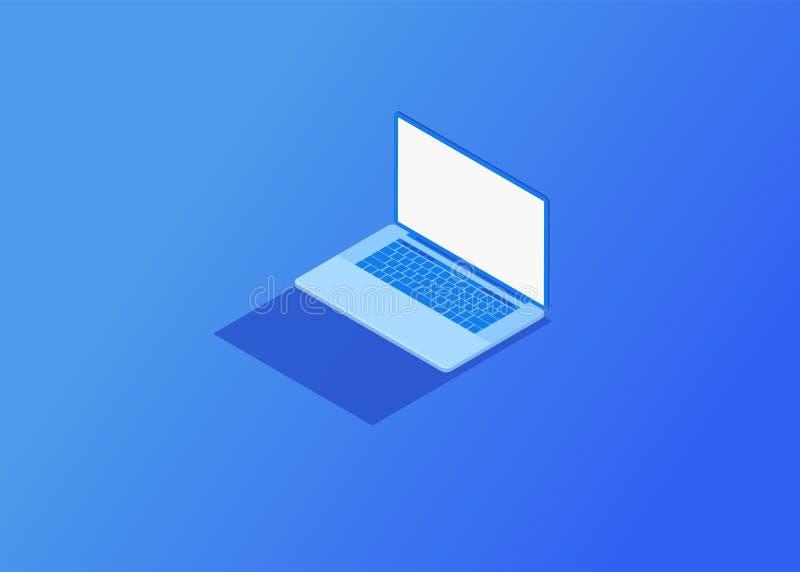 Isometrischer Vektor Laptop stock abbildung