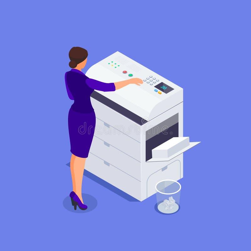 Isometrisches Bürolebenkonzept stock abbildung