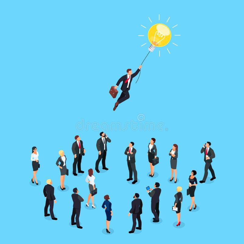 Isometrisches Konzept einer Geschäftsidee lizenzfreie abbildung