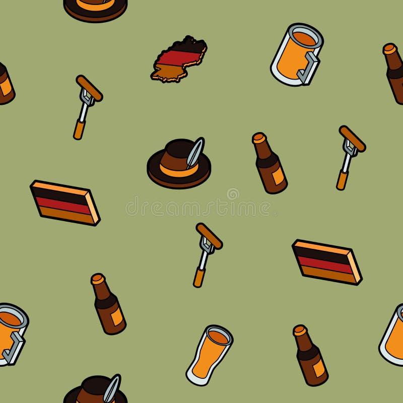 Isometrisches Muster des Deutschland-Farbentwurfs vektor abbildung