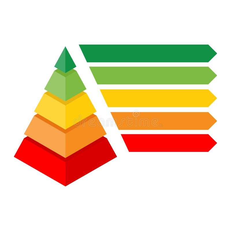 Isometrisches Pyramidendiagramm lizenzfreie abbildung
