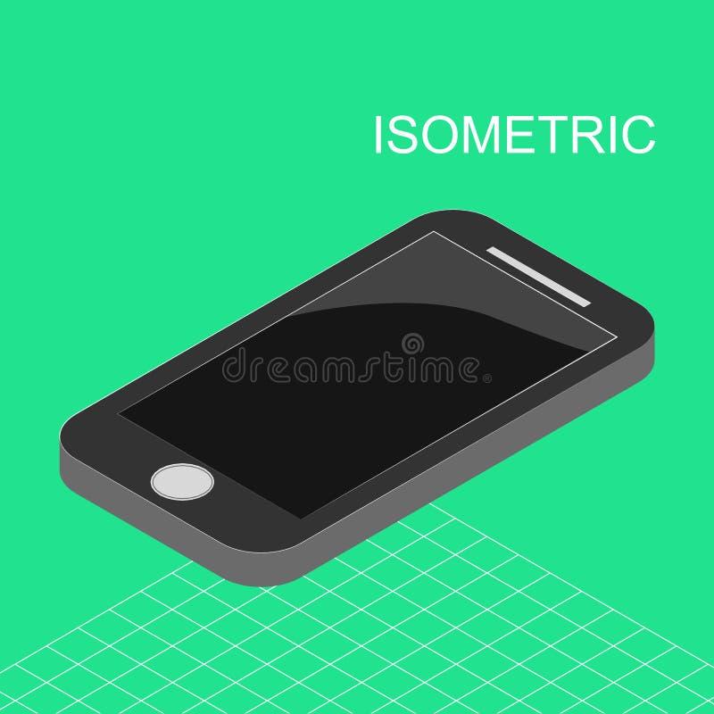 Isometrisches Smarthone stockbild