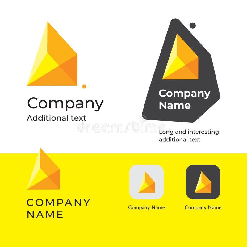 Isometrisk abstrakt modern mall för uppsättning för begrepp för symbol för symbol för App för märke för Logo Design och konstrukt royaltyfri illustrationer