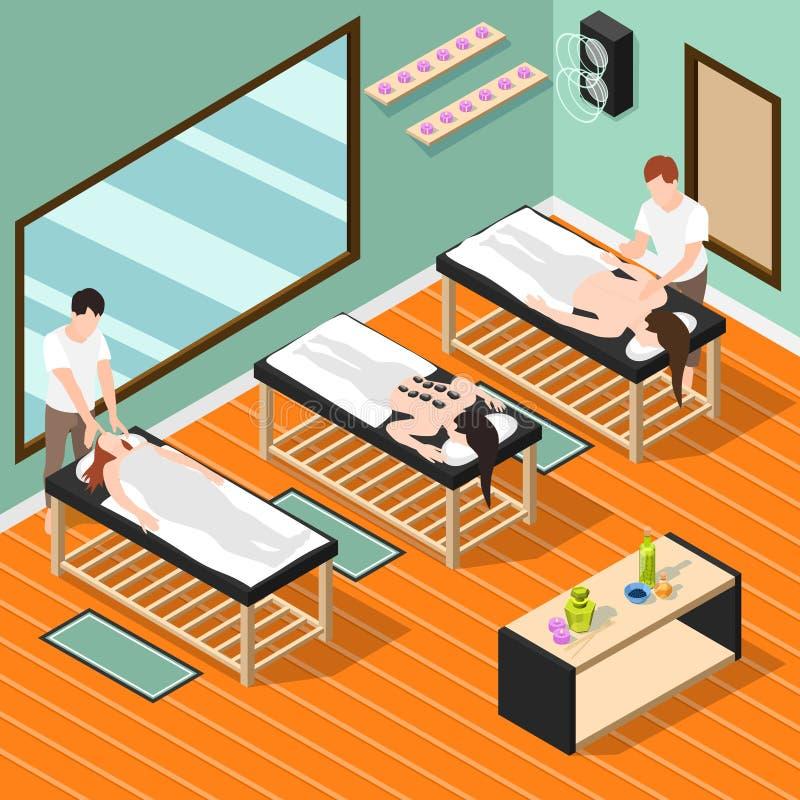 Isometrisk bakgrund för alternativ medicin royaltyfri illustrationer