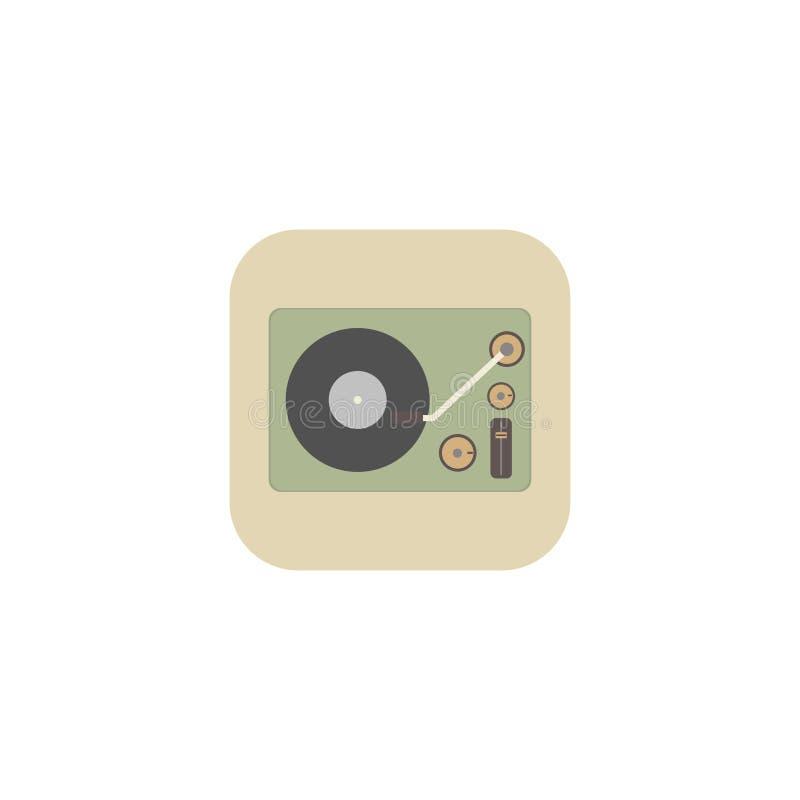 Isometrisk bild av en grammofon i en retro stil också vektor för coreldrawillustration 10 eps royaltyfri illustrationer